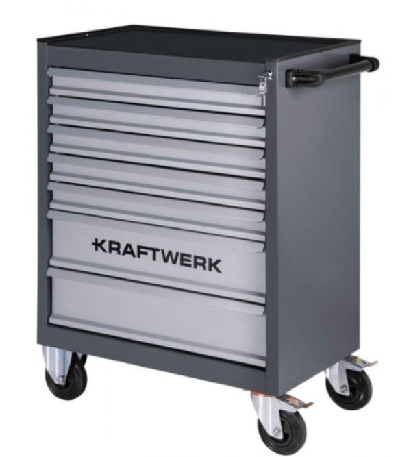 Carrello da officina 7 cassetti + 339 attrezzi inclusi (Chiave dinamometrica omaggio) Kraftwerk 102.220.511
